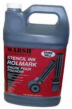 Marsh Black RolMark Ink - Gallon